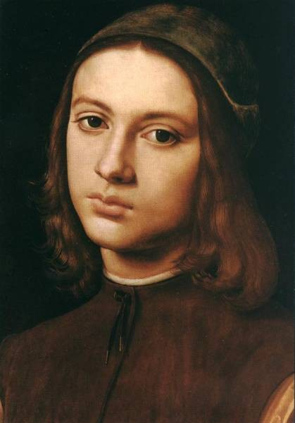 Portrait of a Young Man detail 1495